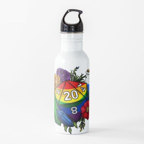 Pride Rainbow D20 Tabletop RPG Gaming Dice Water Bottle