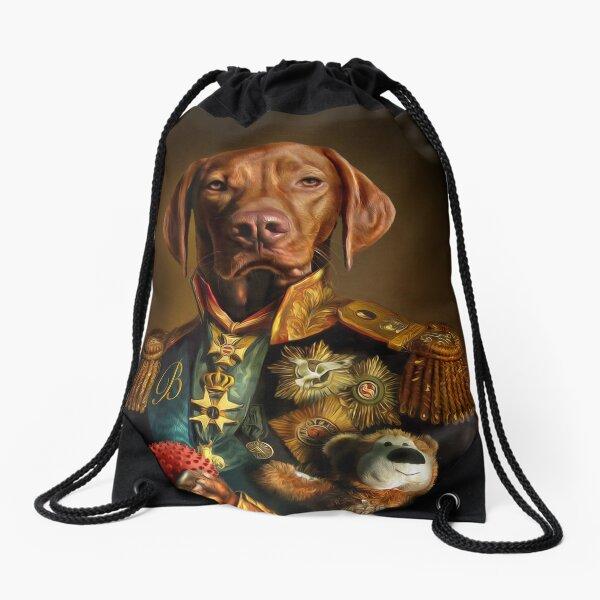 Bertie the Hungarian Vizsla - Dog Portrait Drawstring Bag