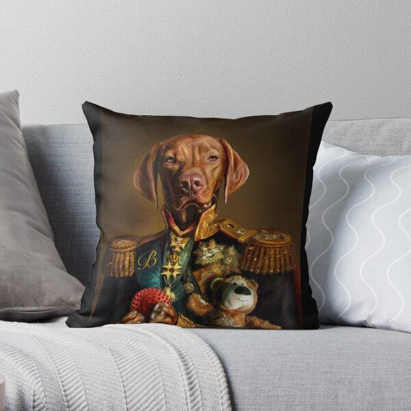 Bertie la Hongroise Vizsla - Portrait de chien Coussin