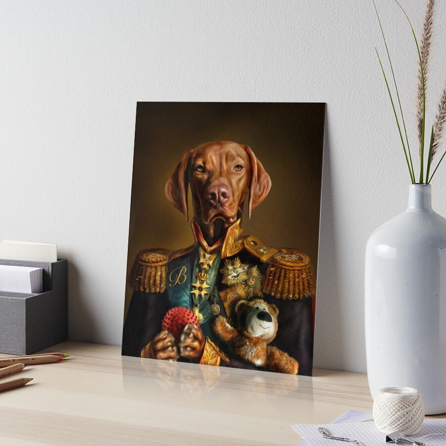 Bertie the Hungarian Vizsla - Dog Portrait Art Board Print