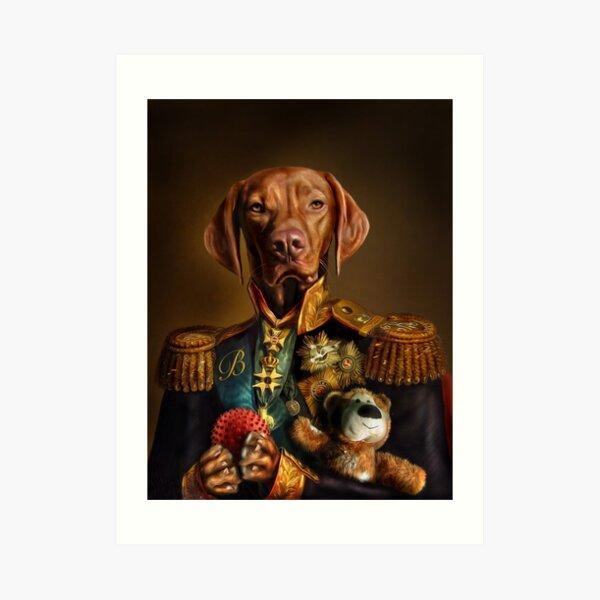 Bertie the Hungarian Vizsla - Dog Portrait Art Print