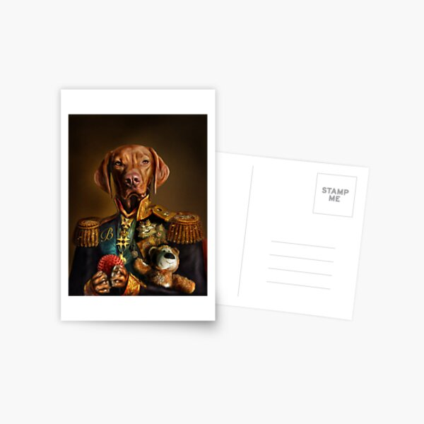 Bertie the Hungarian Vizsla - Dog Portrait Postcard