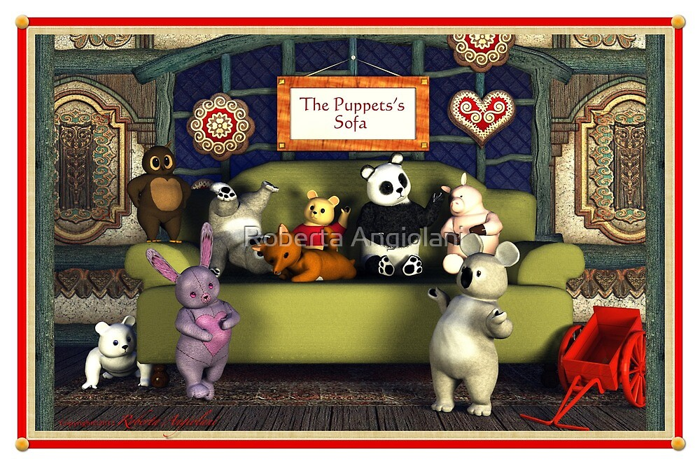 The Puppets's Sofa by Roberta Angiolani