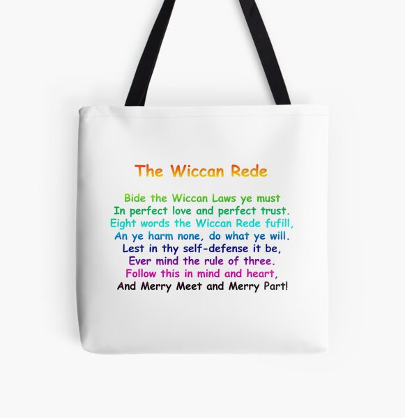 The Wiccan Rede All Over Print Tote Bag