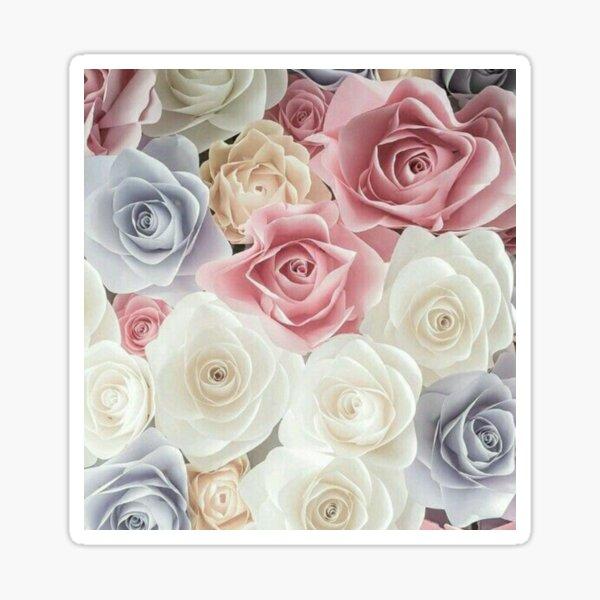 Pastel flowers Sticker