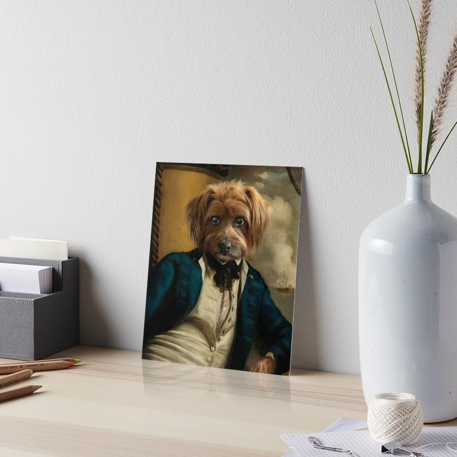 Dog Portrait - Franklin Art Board Print
