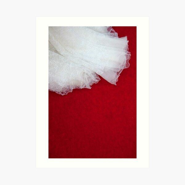 Wedding Dress Detail - Tres Art Print