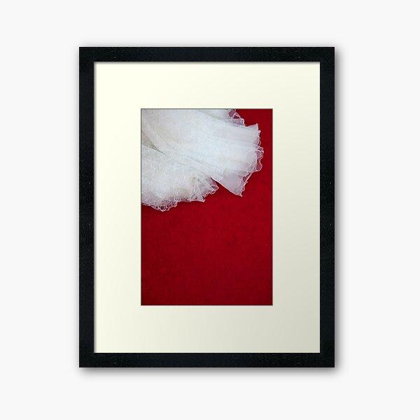 Wedding Dress Detail - Tres Framed Art Print