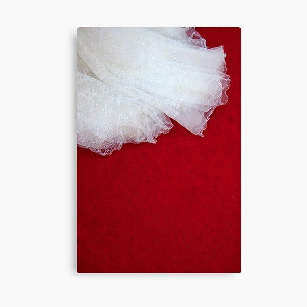 Wedding Dress Detail - Tres Canvas Print