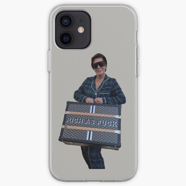 rico como la mierda Funda blanda para iPhone