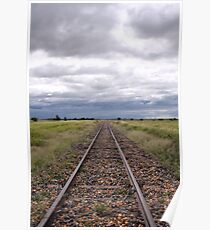 Stormy Rail * Ilfracombe, Queensland Poster