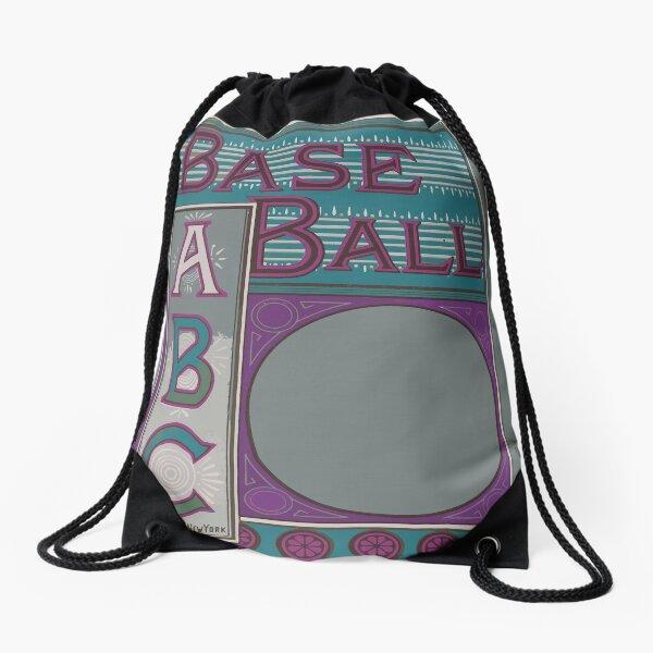 The baseball ABC Drawstring Bag