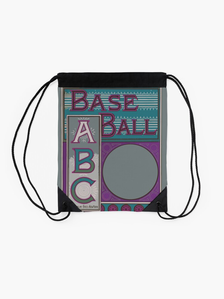 Alternate view of The baseball ABC Drawstring Bag