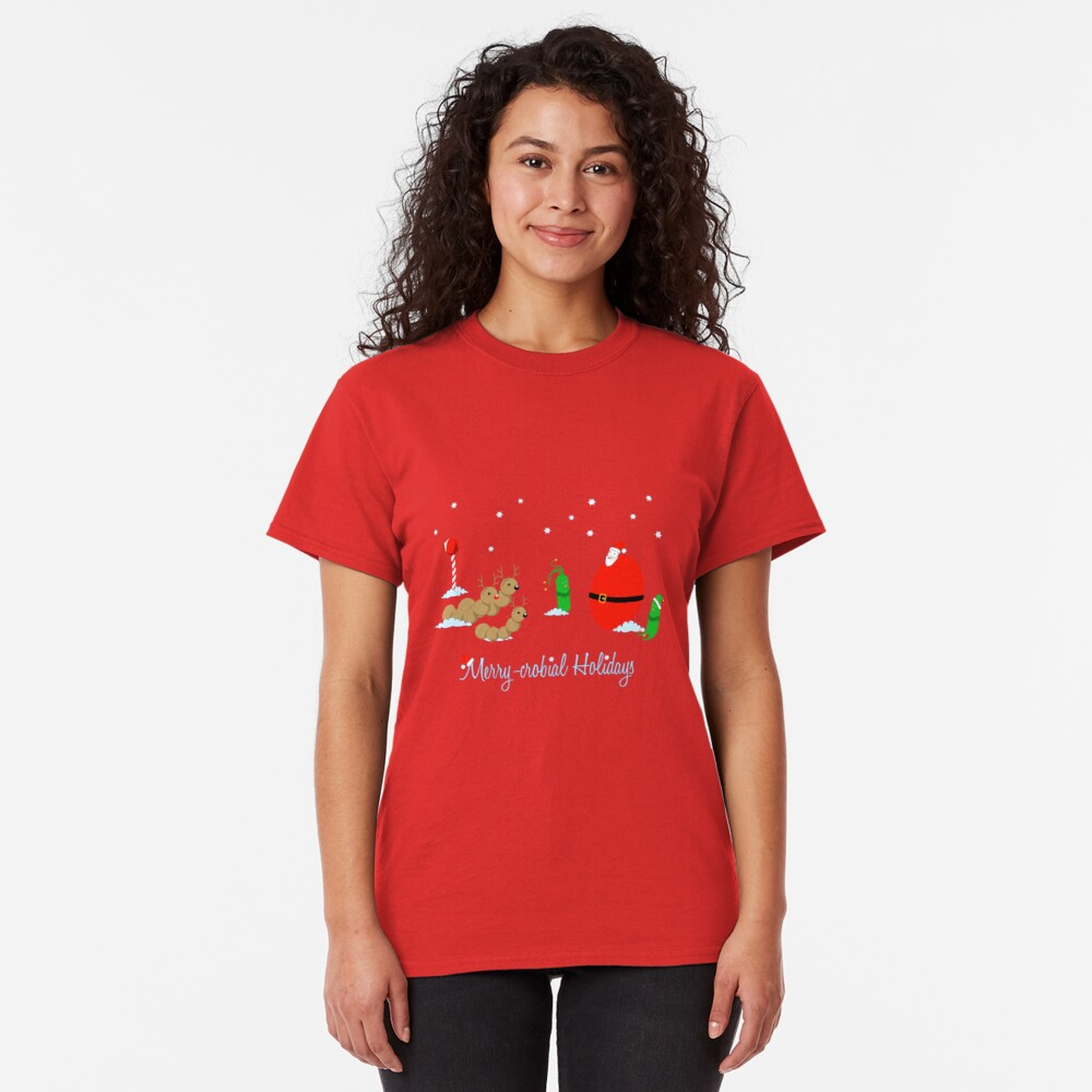 Merry-crobial Holiday Greetings Classic T-Shirt
