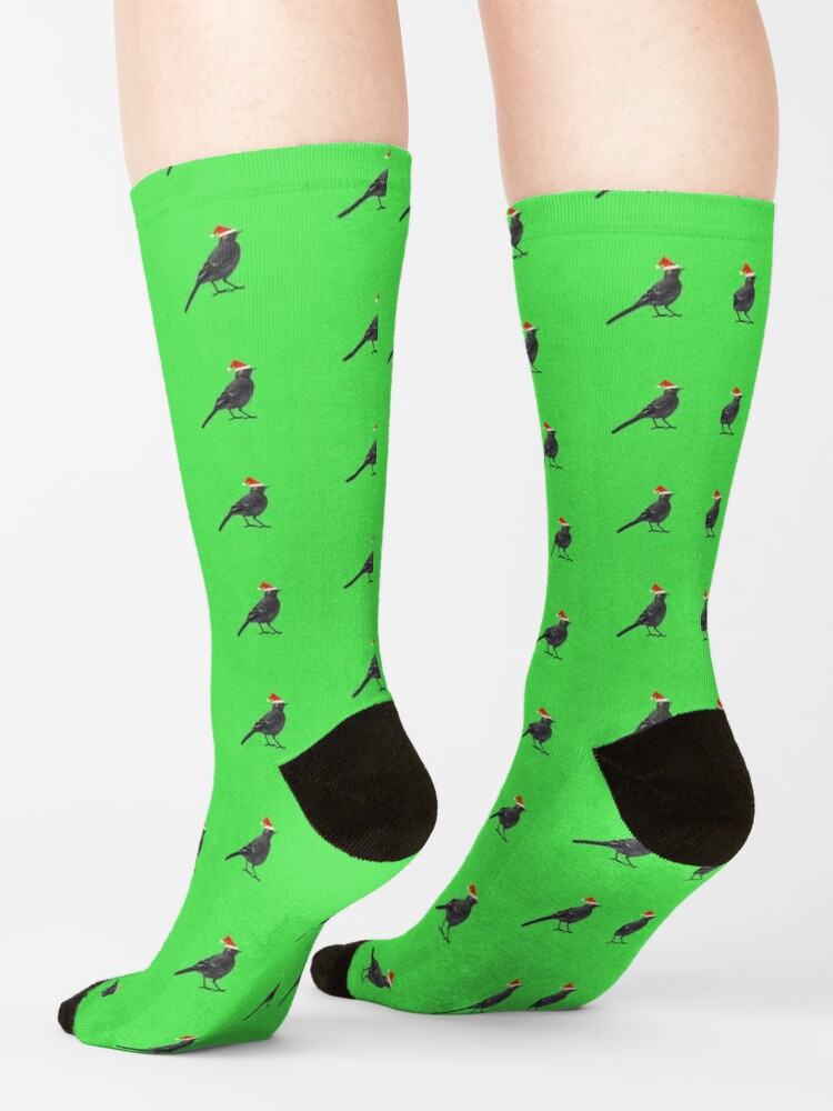 Alternate view of Black wagtails Christmas party Socks