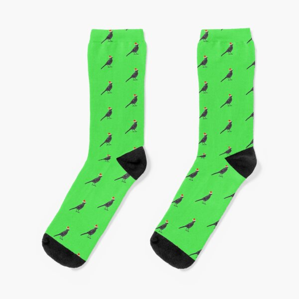 Black wagtails Christmas party Socks