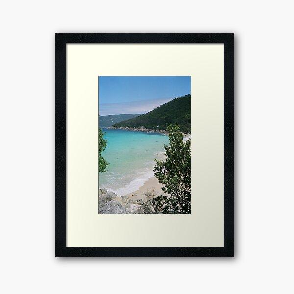 'approaching Little Waterloo Bay North' Framed Art Print