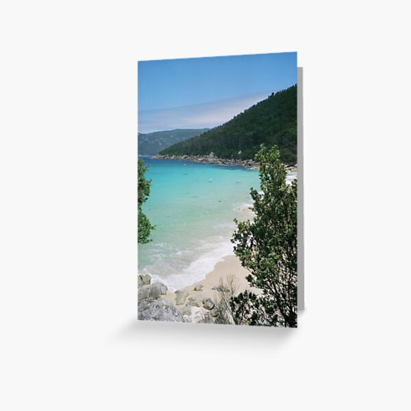 'approaching Little Waterloo Bay North' Greeting Card