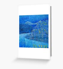 Clifton Suspension Bridge in the snow, Bristol Greeting Card