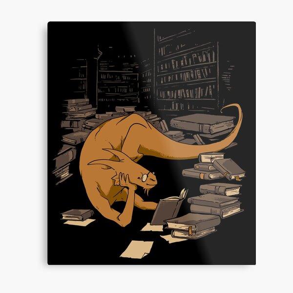 The Book Wyrm Metal Print