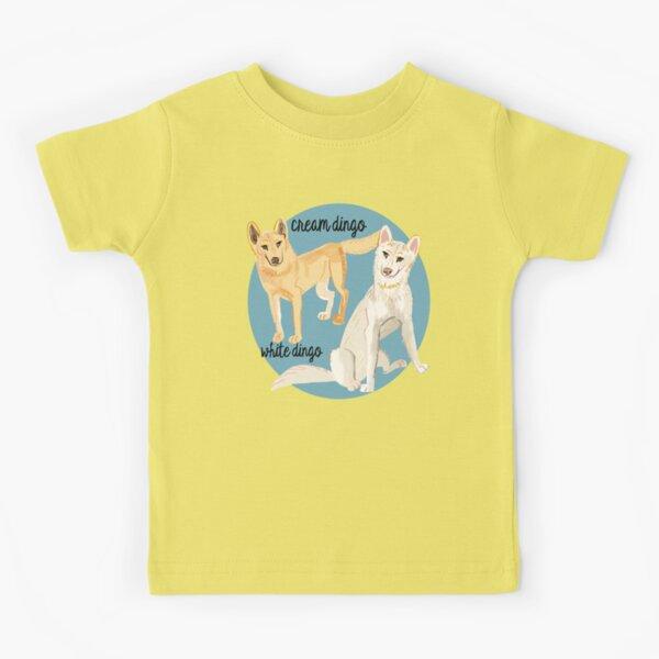 White and cream dingoes Camiseta para niños