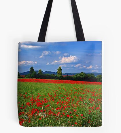 Poppy Field  (Early May) Tote Bag