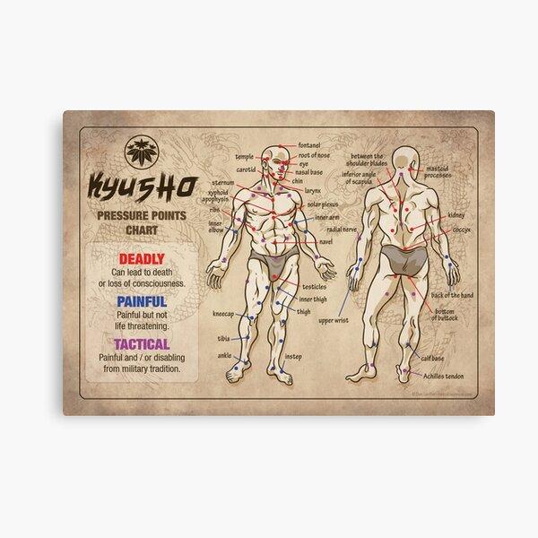 Kyusho Human Body Pressure Points Canvas Print