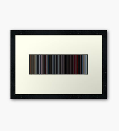 Moviebarcode: 2001: A Space Odyssey (1968) [Simplified Colors] Framed Print