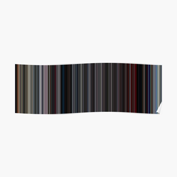 Moviebarcode: 2001: A Space Odyssey (1968) [Simplified Colors] Poster