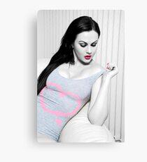 Tina - Pink & Grey Body Canvas Print