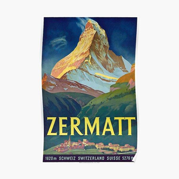 Zermatt - Vintage Swiss Travel Poster Poster