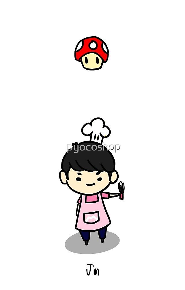 bts jin chibi by pyocoshop redbubble