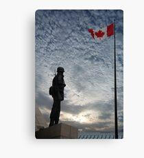 Canadian Soldier - Fallen Soldier Memorial, Ottawa ON Canvas Print