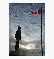 Canadian Soldier - Fallen Soldier Memorial, Ottawa ON Photographic Print