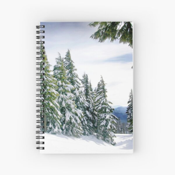 Oregon Winter Spiral Notebook