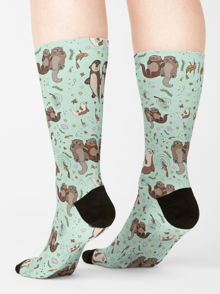 Alternate view of Otters in Blue Socks