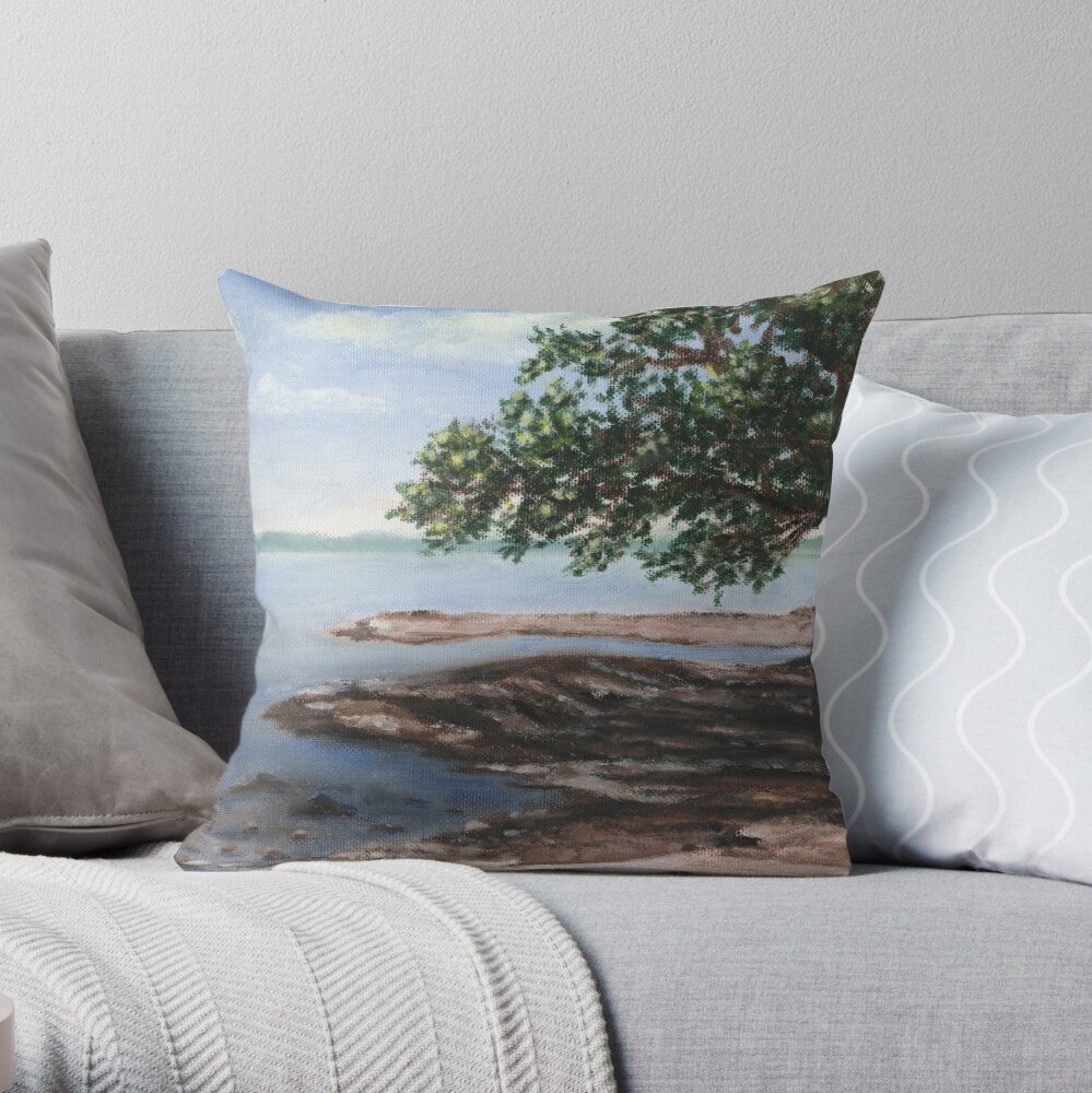 View from Kring Point  Throw Pillow