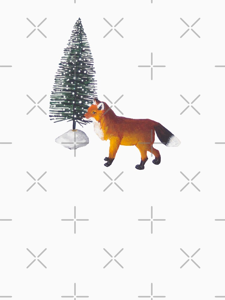 Red Fox Christmas Mini Figurines by EmilyBickell