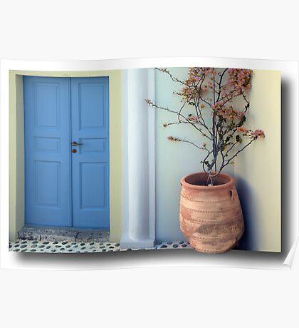 The door to Santorini's inside Poster
