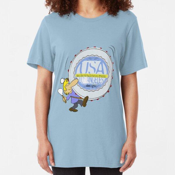 usa california tshirt by rogers bros Slim Fit T-Shirt
