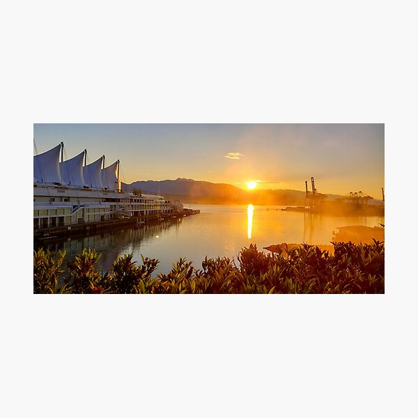 Sunset in Vancouver Photographic Print