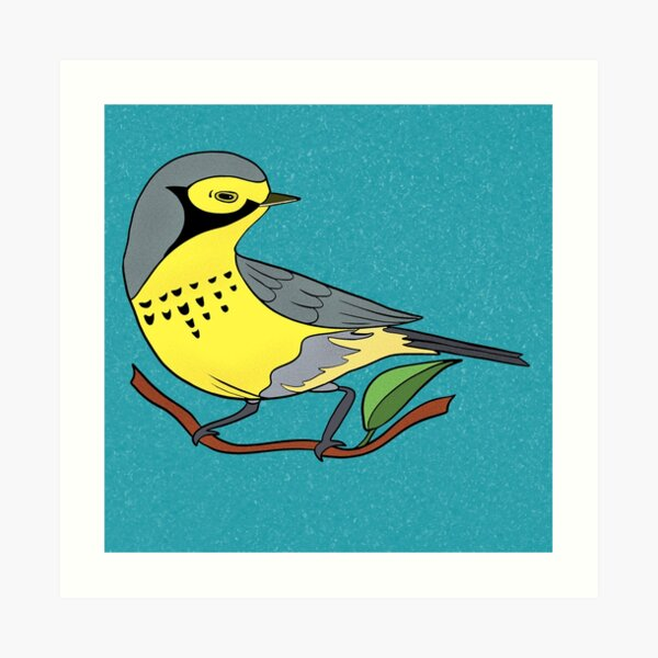 Yellow Bird Canadian Warbler Songbird 7 of 9 Art Print