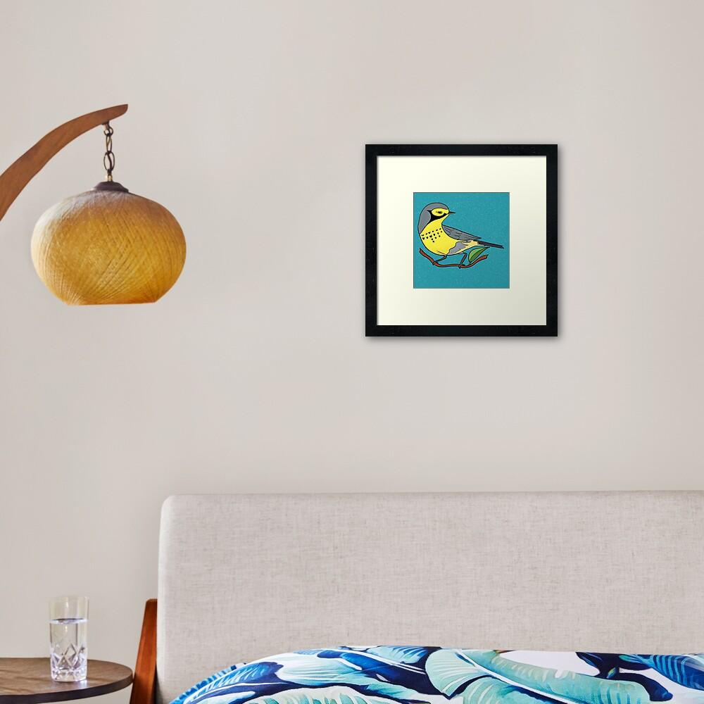 Yellow Bird Canadian Warbler Songbird 7 of 9 Framed Art Print
