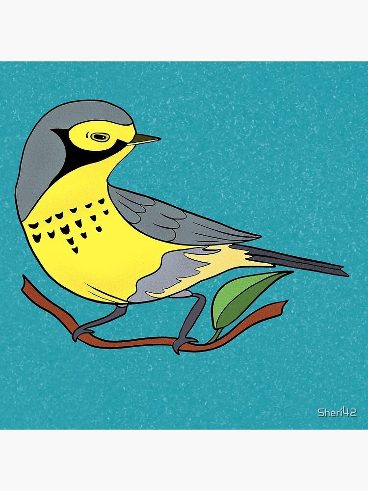 Yellow Bird Canadian Warbler Songbird 7 of 9 by Sheri42