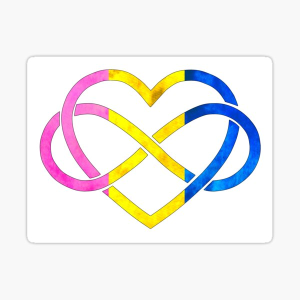 Polyamory Heart - Pansexual Pride Sticker