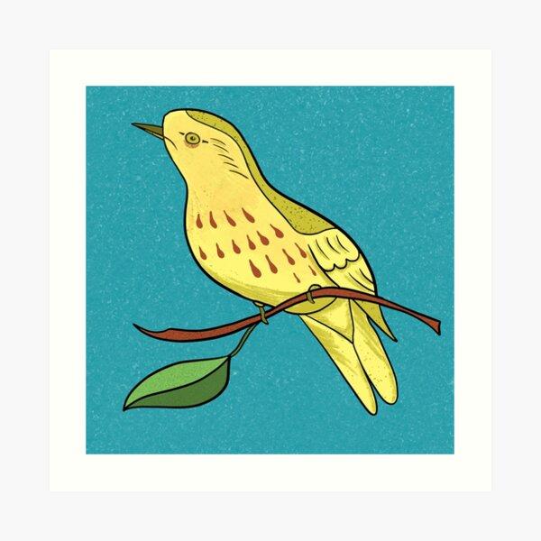 Yellow Bird Yellow Warbler Songbird 9 of 9 Art Print