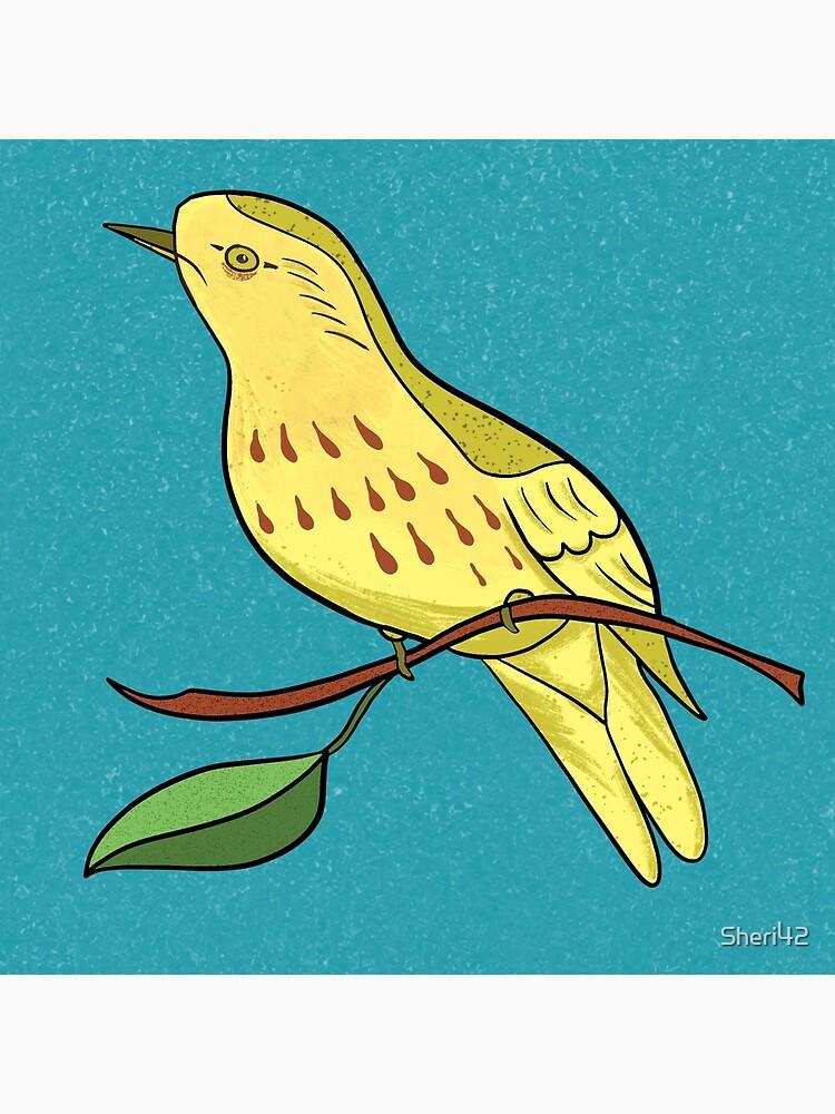 Yellow Bird Yellow Warbler Songbird 9 of 9 by Sheri42