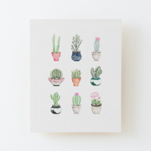 Succulents Wood Mounted Print