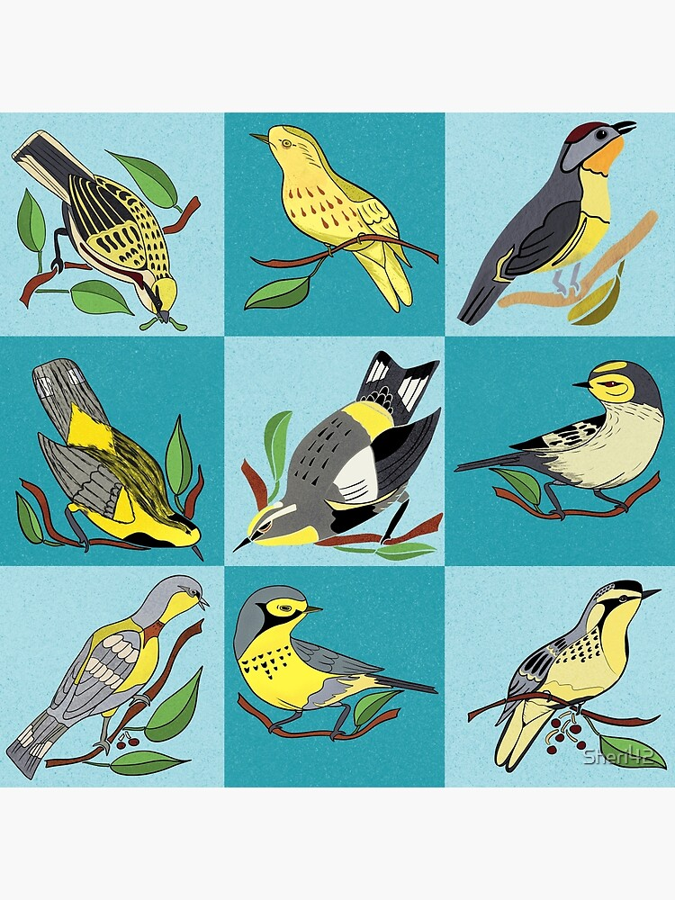 Nature's Nine Yellow Bird Warbler Songbirds by Sheri42