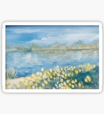 Serenity by the Water Oil Painting Sticker